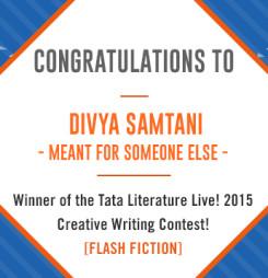 Second Winner of TATA Literature Live! 2015's Flash Fiction Contest