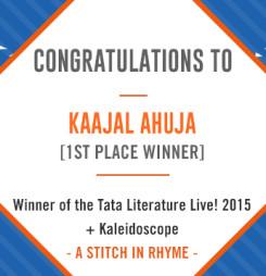 TATA LitLive2015 + Kaleidoscope : A Stich In Rhyme 1st Place Winner