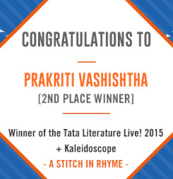 TATA LitLive2015 + Kaleidoscope : A Stich In Rhyme 2nd Place Winner