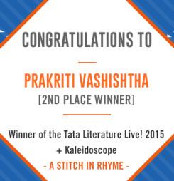 TATA LitLive2015 + Kaleidoscope : A Stich In Rhyme 2nd Place Winner