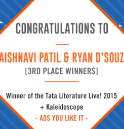 TATA LitLive2015 + Kaleidoscope : Ads You Like It 3rd Place Winner